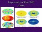 asymmetry of the cmb power