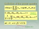 definition of the power spectra