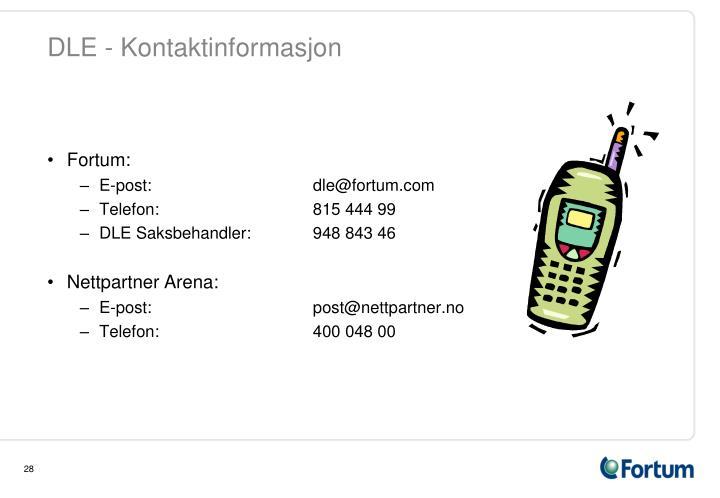 DLE - Kontaktinformasjon