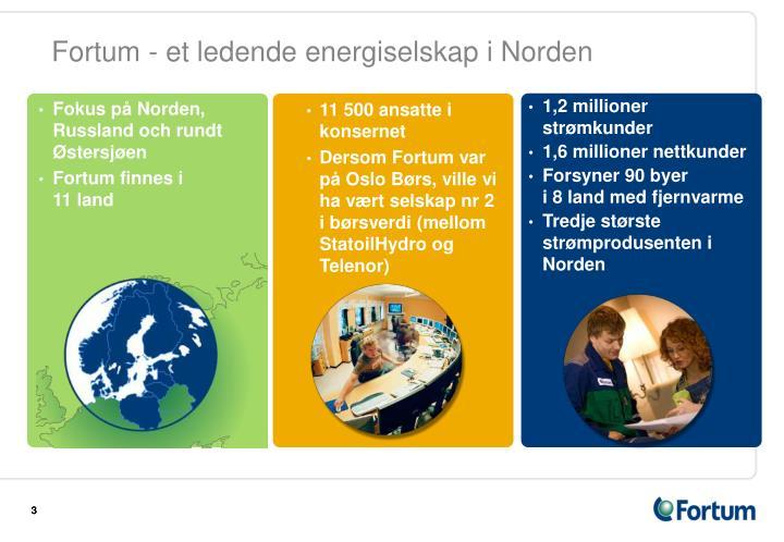 Fortum et ledende energiselskap i norden