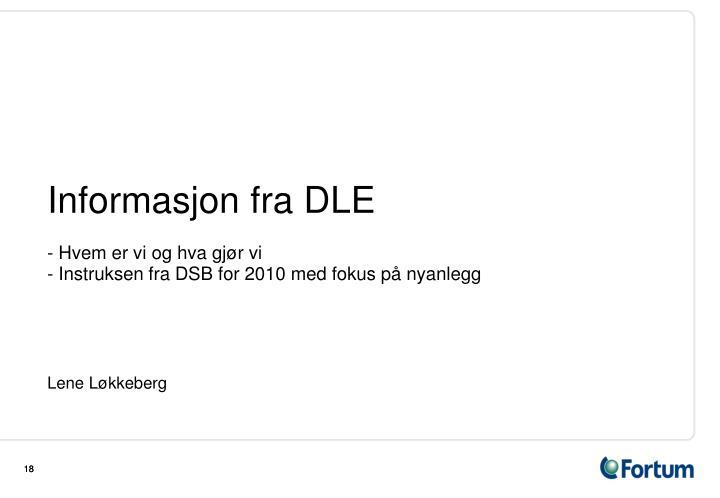 Informasjon fra DLE