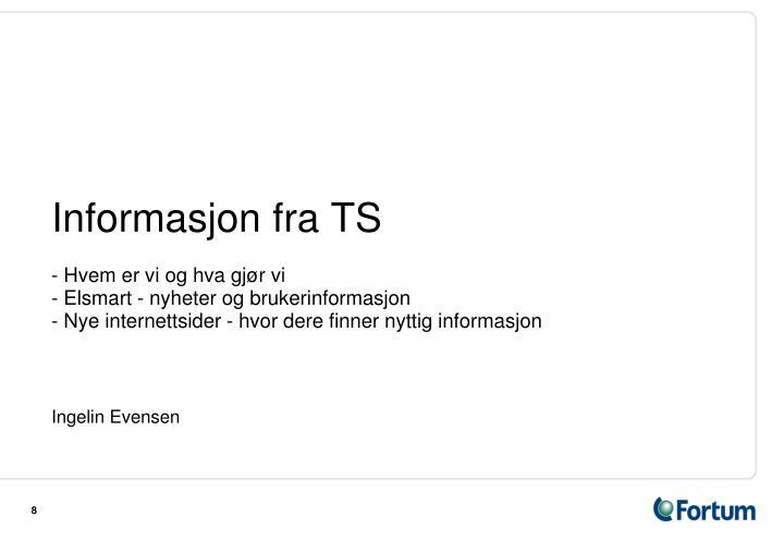 Informasjon fra TS