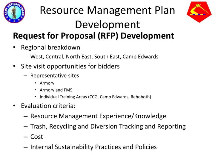 Resource Management Plan Development