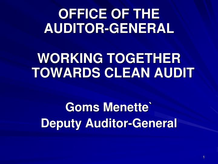office of the auditor general n.