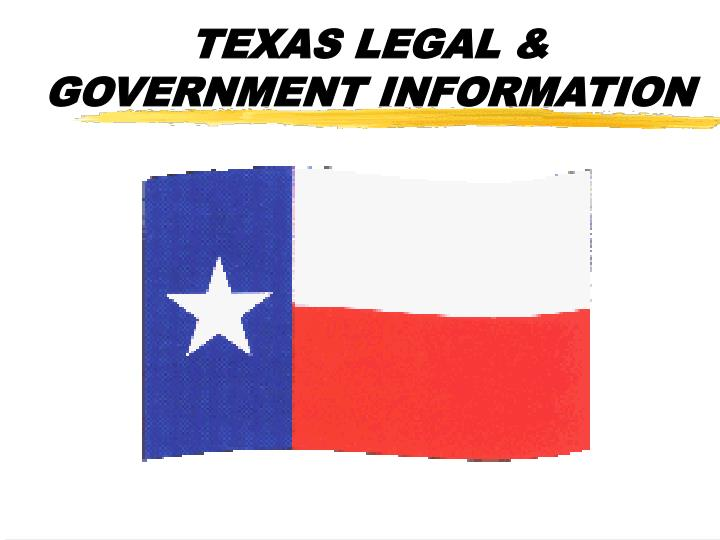 Texas legal government information
