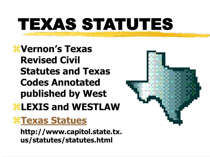 TEXAS STATUTES