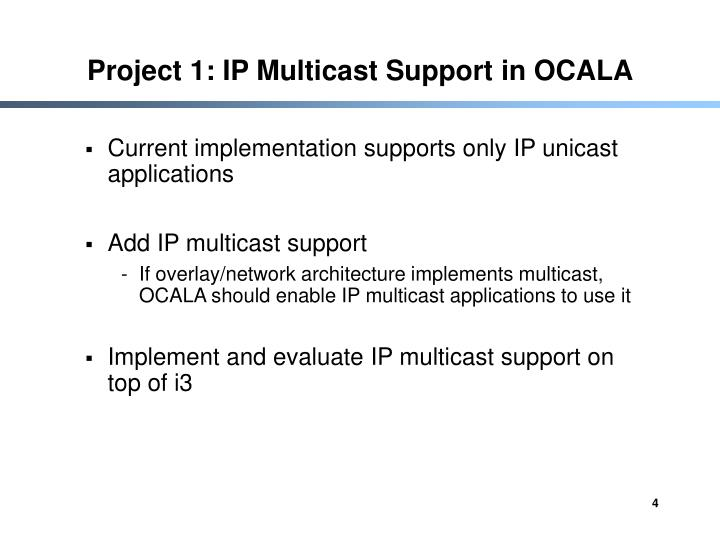 Project 1: IP Multicast Support in OCALA