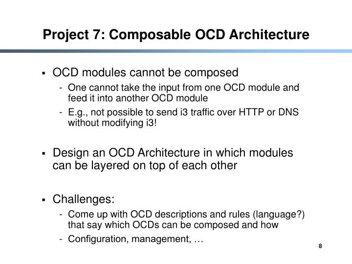 Project 7: Composable OCD Architecture
