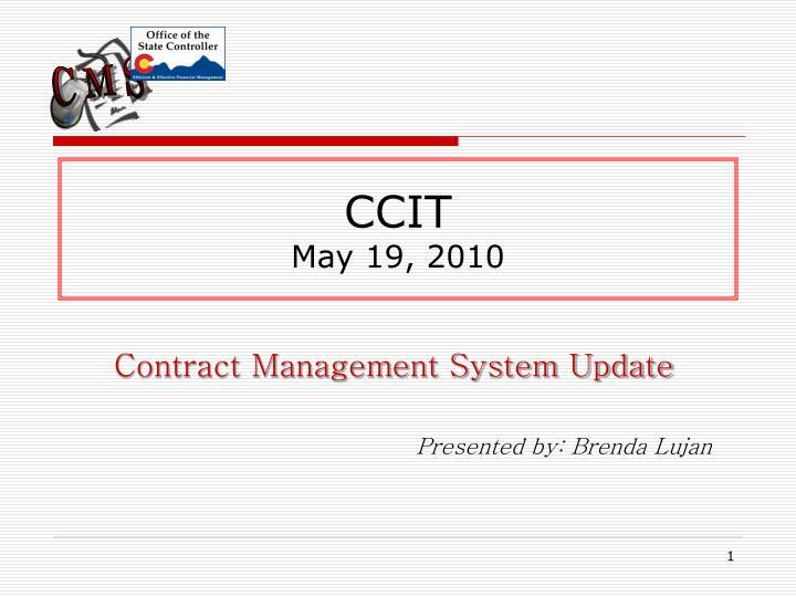 Ccit may 19 2010