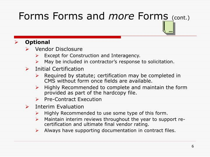 Forms Forms and