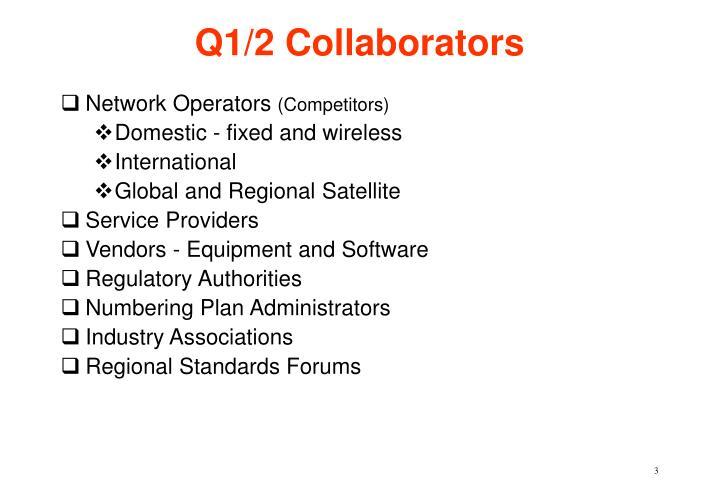 Q1 2 collaborators