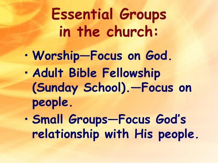 Essential Groups