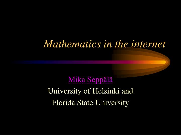 mathematics in the internet