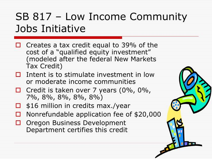 SB 817 – Low Income Community Jobs Initiative