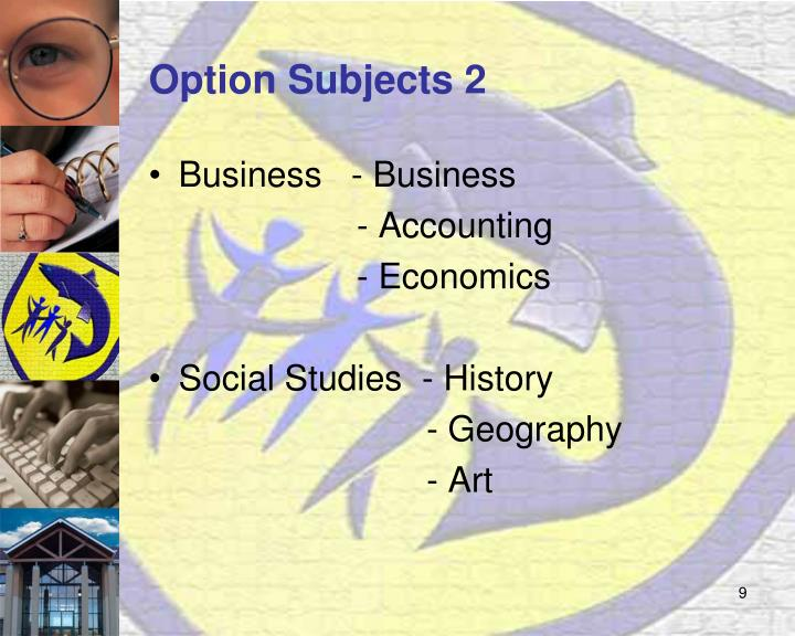 Option Subjects 2