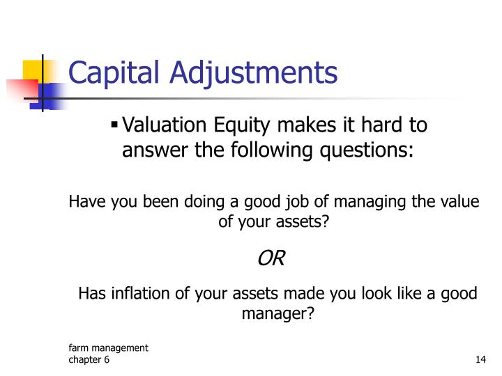 Capital Adjustments