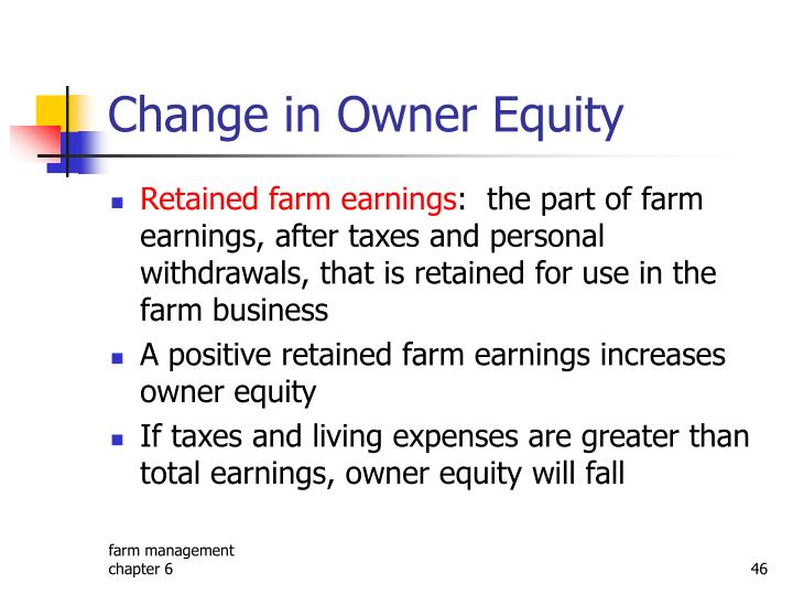 Change in Owner Equity
