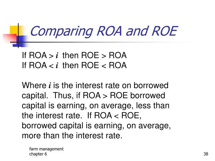 Comparing ROA and ROE