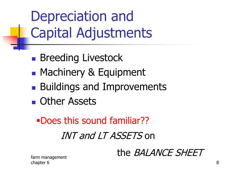 Depreciation and