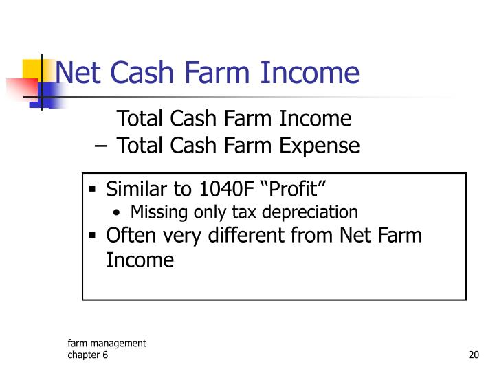 Net Cash Farm Income