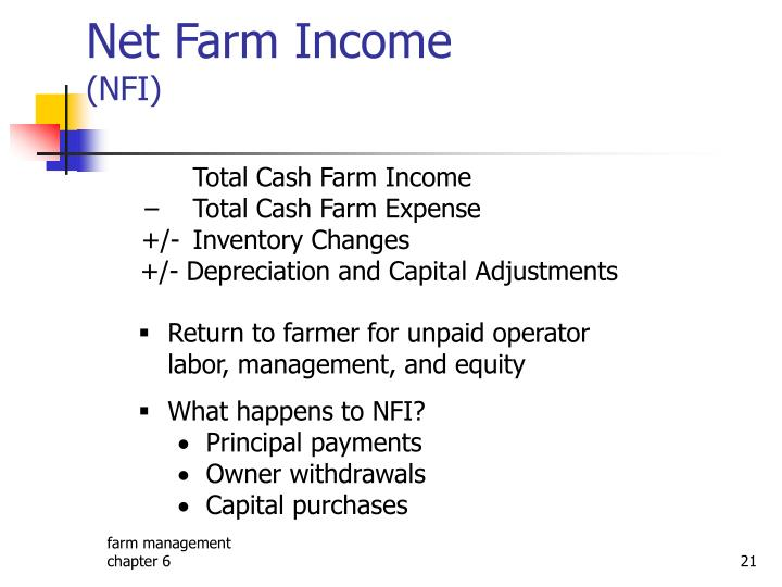 Net Farm Income