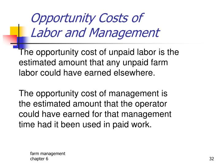 Opportunity Costs of
