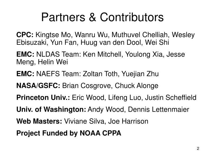 Partners contributors