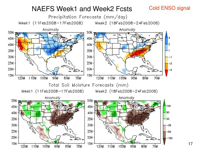 NAEFS Week1 and Week2 Fcsts