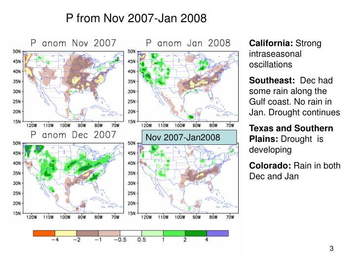 P from Nov 2007-Jan 2008
