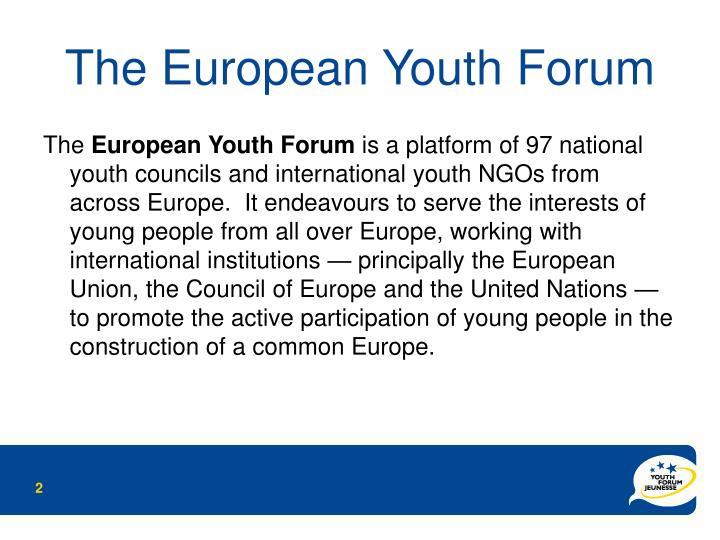 the european youth forum n.