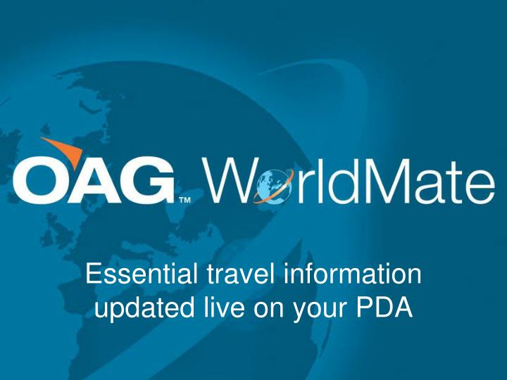 Essential travel information