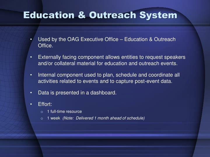 Education & Outreach System