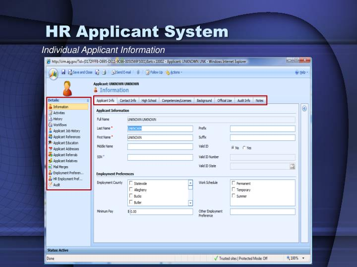 HR Applicant System