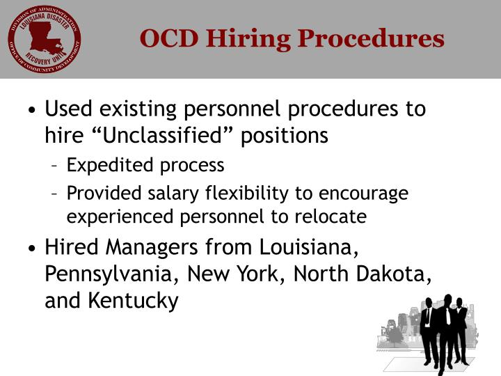 Ocd hiring procedures