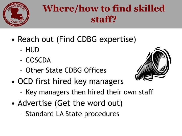 Where how to find skilled staff