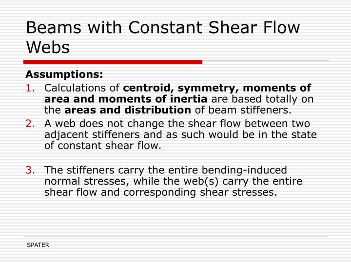 Beams with Constant Shear Flow Webs