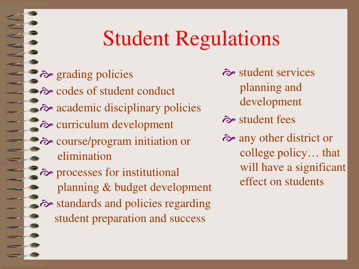 Student Regulations