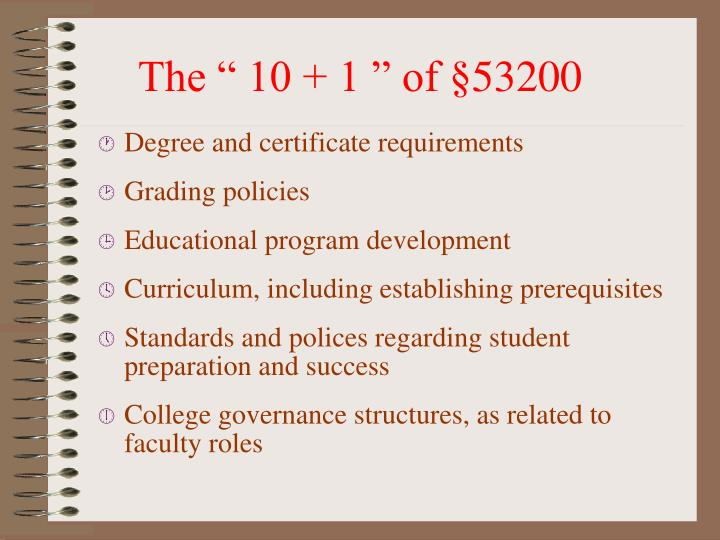Degree and certificate requirements