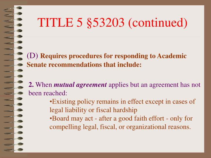 TITLE 5 §53203 (continued)