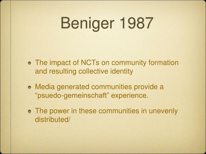 Beniger 1987