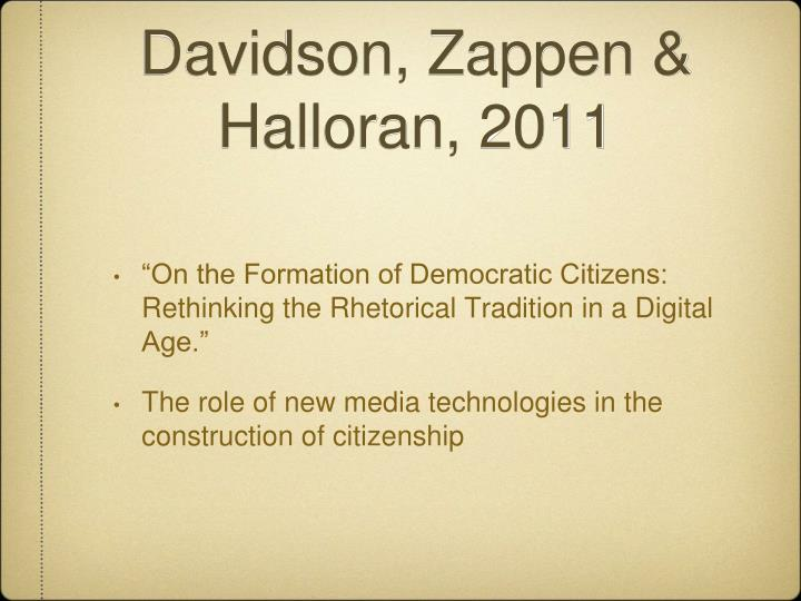 Davidson, Zappen & Halloran, 2011