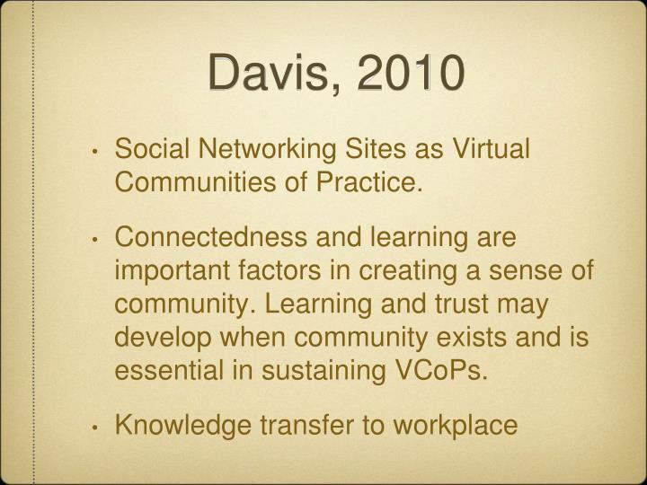 Davis, 2010