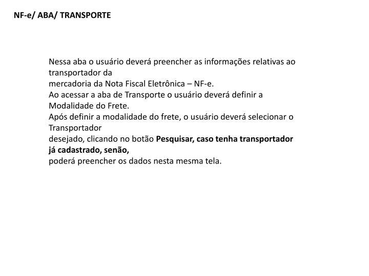NF-e/ ABA/ TRANSPORTE