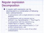 regular expression decomposition