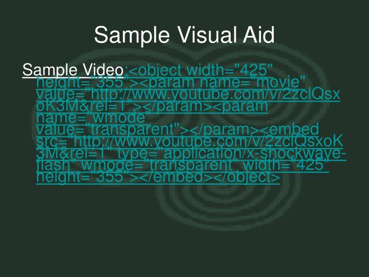 Sample Visual Aid