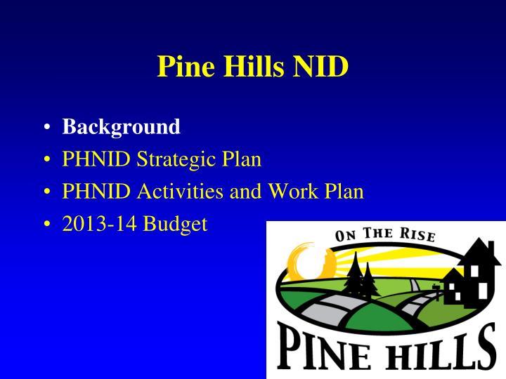 Pine hills nid1