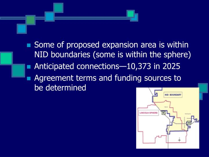 Some of proposed expansion area is within NID boundaries (some is within the sphere)