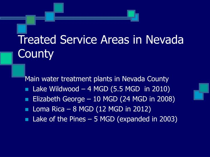 Treated Service Areas in Nevada County