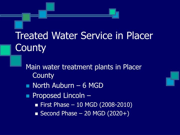 Treated Water Service in Placer County