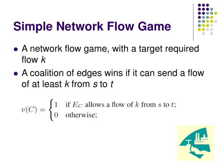Simple Network Flow Game
